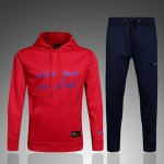 Survetement Barcelone 2016 2017 Red hooded