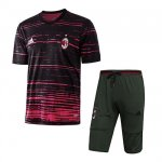 Maillot Survetement AC Milan 2016 2017 Black and red