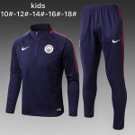 Enfant Survetement Manchester City 2017 2018 Navy blue