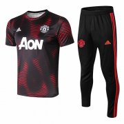 Maillot Survetement Manchester United 18-19 Pattern red