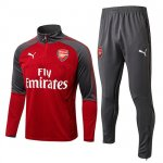 Survetement Arsenal 2017 2018 Gray red